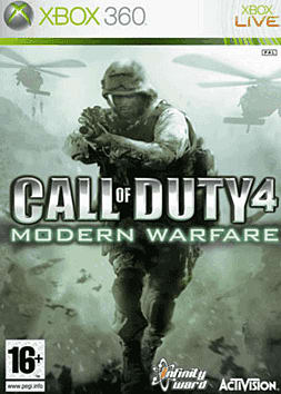 Call of Duty 4: Modern Warfare Xbox 360 Cover Art