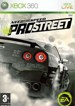 Need for Speed ProStreet Xbox 360 Cover Art