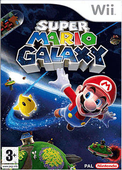 Super Mario Galaxy Wii Cover Art
