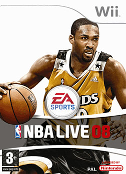 NBA Live 08 Wii Cover Art