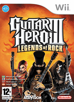 Guitar Hero III: Legends of Rock (Software Only) Wii Cover Art