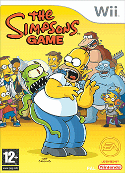 The Simpsons Game Wii Cover Art