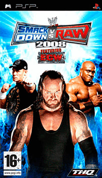 WWE SmackDown! vs. RAW 2008 PSP Cover Art