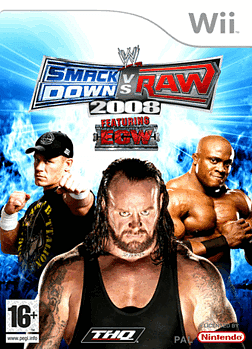 WWE SmackDown! vs. RAW 2008 Wii Cover Art