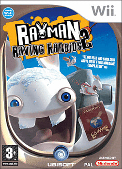 Rayman Raving Rabbids 2 Wii Cover Art