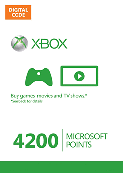 Xbox Live Marketplace 4200 Points Xbox Live 