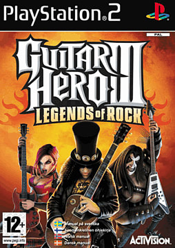 Guitar Hero III: Legends of Rock PlayStation 2 Cover Art