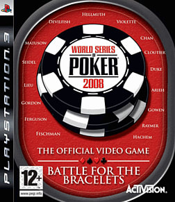 World Series of Poker 2008: Battle for the Bracelets PlayStation 3 Cover Art