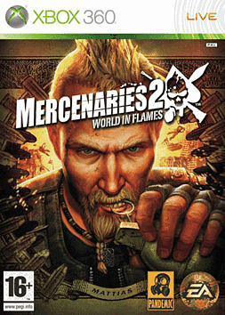 Mercenaries 2: World in Flames Xbox 360 Cover Art