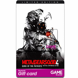 GAME Stores £40 Metal Gear Solid 4 Gift Card Gifts