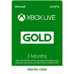 Xbox Live 3 Month Gold Membership Card Xbox Live Cover Art