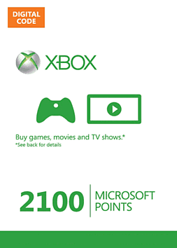 Xbox Live Marketplace 2100 Points 2100 Points