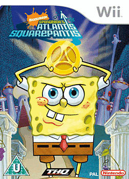 Spongebob: Atlantis Squarepantis Wii Cover Art