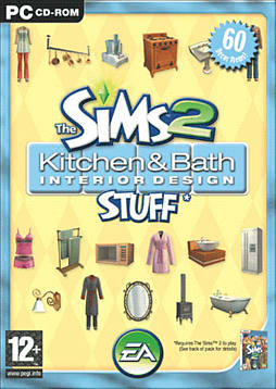 The Sims 2 Kitchen & Bathroom Interior Design Stuff PC Games and Downloads Cover Art