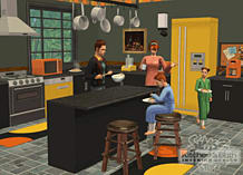 The Sims 2 Kitchen & Bathroom Interior Design Stuff screen shot 1