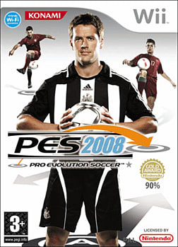 Pro Evolution Soccer 2008 Wii Cover Art