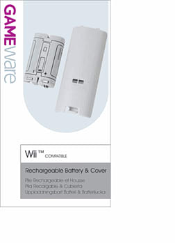 GAMEware Battery Pack for Wii Accessories