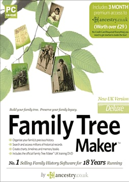 Family Tree Maker Deluxe PC Games Cover Art