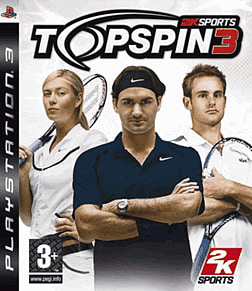 Top Spin 3 PlayStation 3 Cover Art