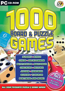 1000 Board and Puzzle Games PC Games and Downloads Cover Art