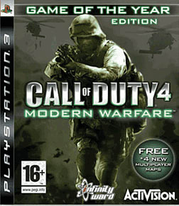 Call of Duty 4: Modern Warfare Game of the Year Edition PlayStation 3 Cover Art