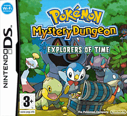 Pokemon Mystery Dungeon: Explorers of Time DSi and DS Lite Cover Art