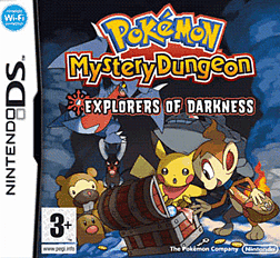 Pokemon Mystery Dungeon: Explorers of Darkness DSi and DS Lite Cover Art