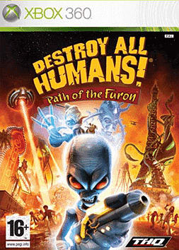Destroy All Humans: Path of The Furon Xbox 360 Cover Art