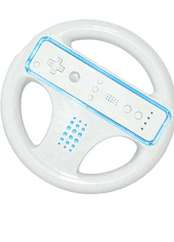 Glo Wii Wheel - Blue Accessories