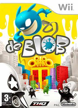 de Blob Wii Cover Art