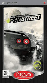 Need For Speed ProStreet - Platinum PSP Cover Art