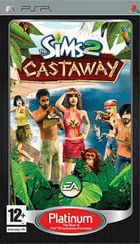 Sims 2 Castaway Platinum PSP Cover Art