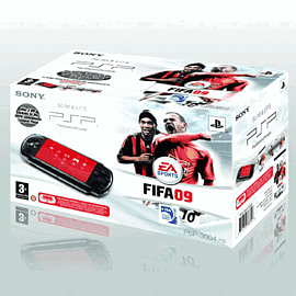 Sony PSP 3000 Black Console with FIFA 09 PSP