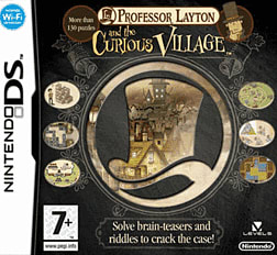 Professor Layton and the Curious Village DSi and DS Lite Cover Art