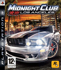 Midnight Club: Los Angeles PlayStation 3 Cover Art