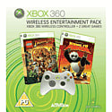 Wireless Entertainment Pack (inc Kung Fu Panda + Lego Indiana Jones + Wireless Controller) Xbox 360