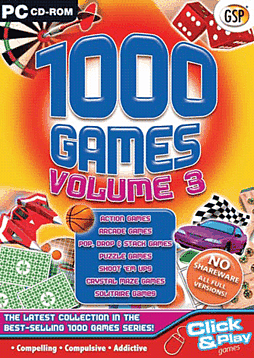 1000 Games Volume 3 PC Games and Downloads Cover Art