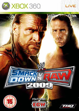 WWE SmackDown vs Raw 2009 Xbox 360 Cover Art