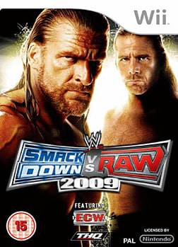 WWE SmackDown vs Raw 2009 Wii Cover Art