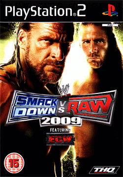 WWE SmackDown vs Raw 2009 PlayStation 2 Cover Art