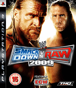 WWE SmackDown vs Raw 2009 PlayStation 3 Cover Art