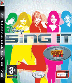 Disney Sing It! (featuring Camp Rock and Hannah Montana) PlayStation 3 Cover Art