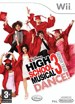 Disney's High School Musical 3: Senior Year DANCE! Wii Cover Art