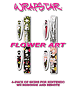 Wrapstar Flower Art Controller & Controller Grip Graphic Skin (4-pack) for Wii Accessories