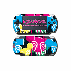 Wrapstar Terratag Dripping Face Graphic Skin for PSP Slim & Lite Accessories