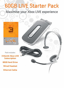 Xbox Live Starter Kit including 60GB Hard Drive Accessories 