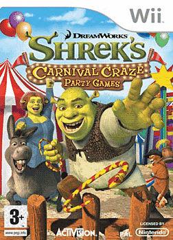 Shrek's Carnival Craze Wii Cover Art