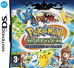 Pokemon Ranger 2: Shadows of Almia DSi and DS Lite Cover Art