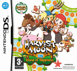 Harvest Moon: Island of Happiness DSi and DS Lite Cover Art