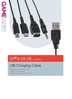 GAMEware USB Charge Cable for DSi and DS Lite Accessories